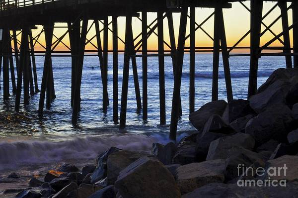 Photograph - Pier Through  by Bridgette Gomes