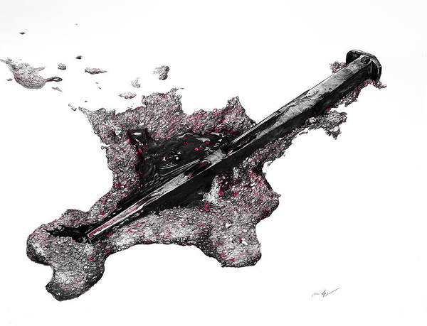 Drawing - Pierced  by Aaron Spong