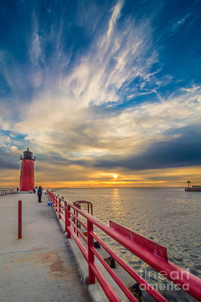 Mke Photograph - Pierhead October Sky by Andrew Slater