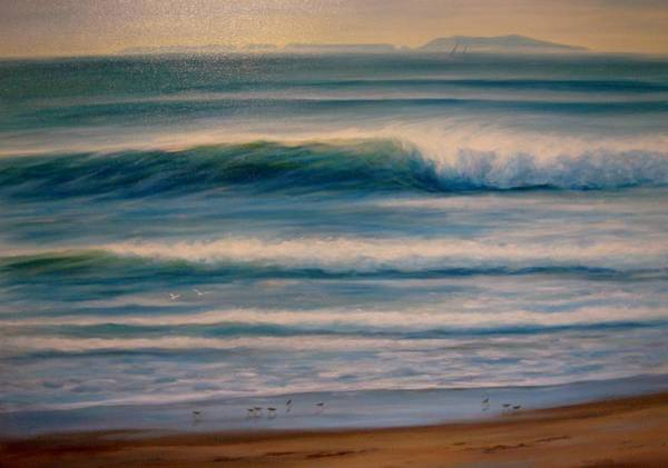 Oceanscape Painting - Pierpont Beach Morning by Tina Obrien