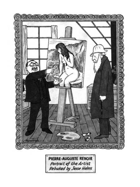 April 6th Drawing - Pierre-auguste Renoir Portrait by J.B. Handelsman