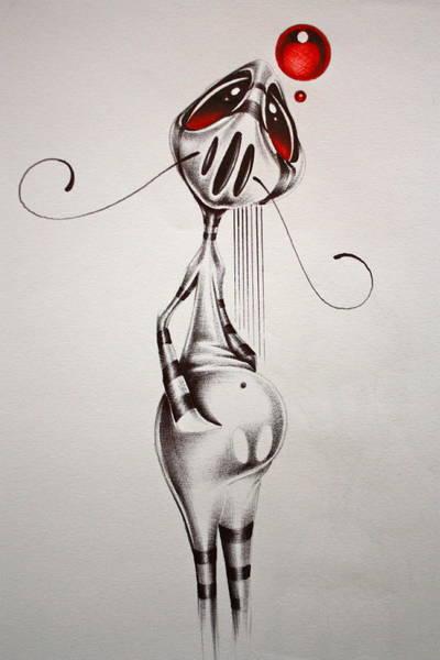 Surrealist Drawing - Pierre by Francisco Javier
