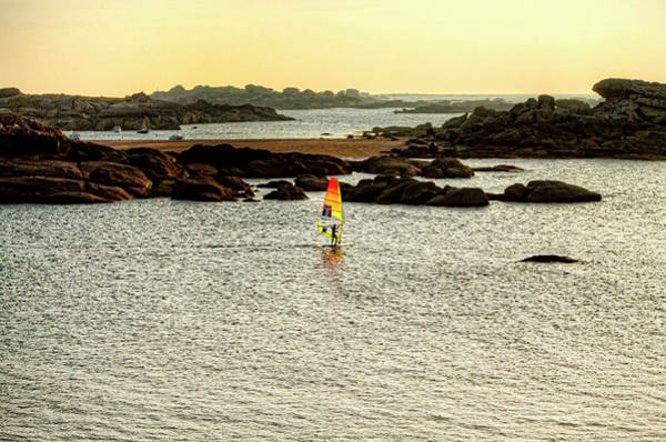 Wall Art - Photograph - Pierre Le Coq Riding His Windsurf Board by Christophe Launay