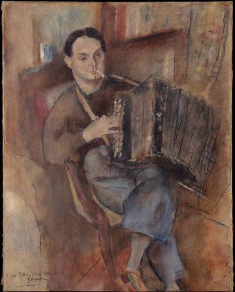 Central America Painting - Pierre Mac Orlan by Jules Pascin