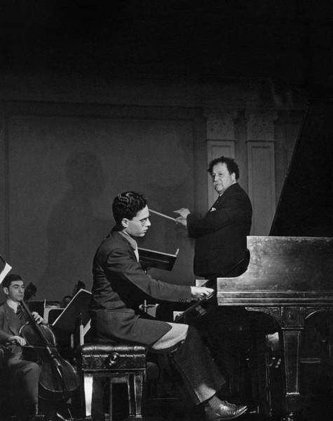 Music Photograph - Pierre Monteux With Leon Fleisher by Serge Balkin