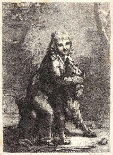 Chien Drawing - Pierre-paul Prudhon French by Litz Collection