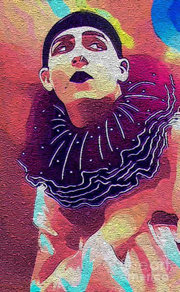 Photograph - Pierrot Clown Vintage Art IIi Textured by Lesa Fine