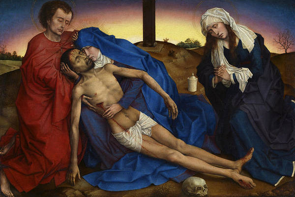 Wall Art - Photograph - Pieta C. 1440 By Van Der Weyden by Daniel Hagerman