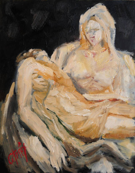 Wall Art - Painting - Pieta by Carole Foret