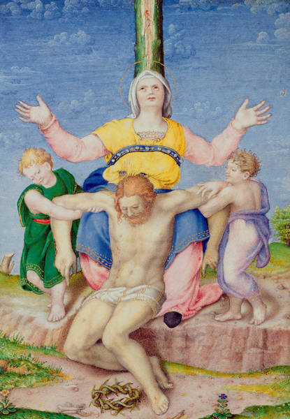 Church Of The Cross Painting - Pieta by Michelangelo