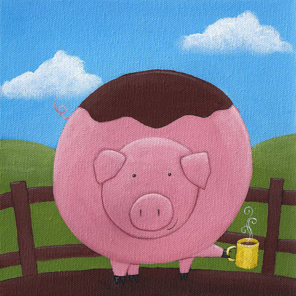 Wall Art - Painting - Pig Nursery Art by Christy Beckwith