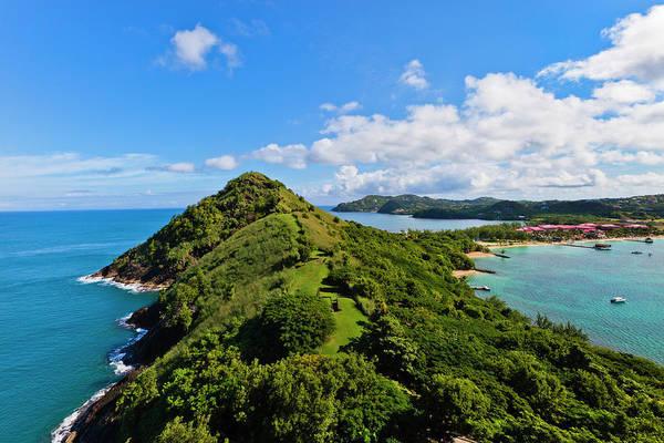 Headlands Photograph - Pigeon Island National Park, St. Lucia by Flavio Vallenari