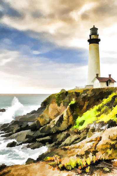 Wall Art - Photograph - Pigeon Point Lighthouse At Dusk by Glen Glancy
