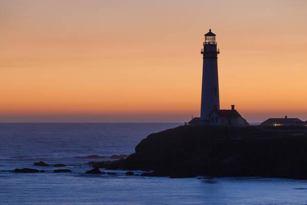 Photograph - Pigeon Point Lighthouse At Sunset by Cliff Wassmann