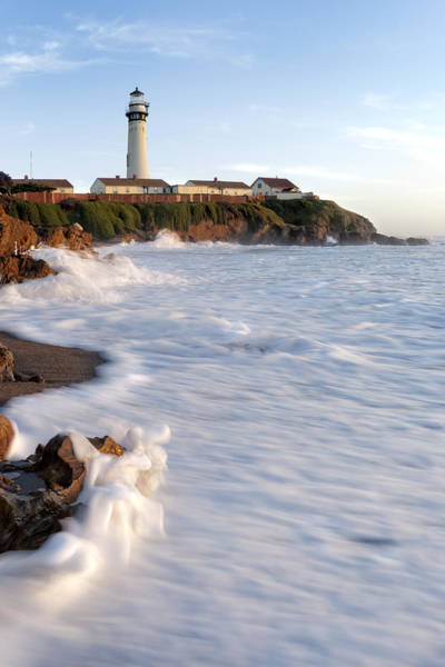 Wall Art - Pastel - Pigeon Point Lightouse by Francesco Emanuele Carucci