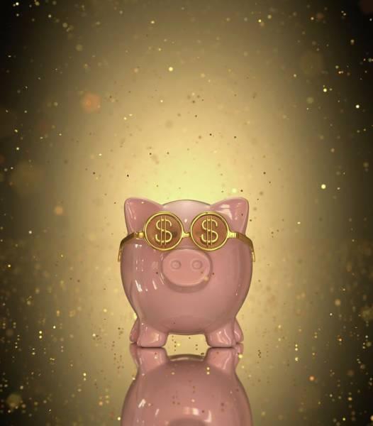 One Dollar Photograph - Piggy Bank by Ktsdesign