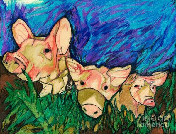 Drawing - Piggy Sue And Her Gang by Jon Kittleson