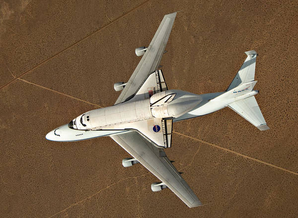 Space Shuttle Photograph - Piggyback by Ricky Barnard