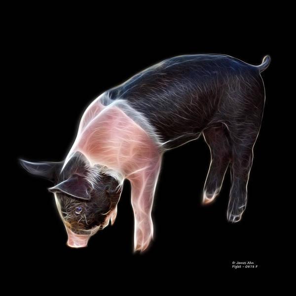 Digital Art - Piglet - 0878 F by James Ahn