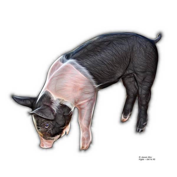 Digital Art - Piglet - 0878 Fs by James Ahn