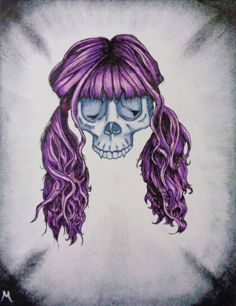 White Zombie Painting - Pigtails by Matt N