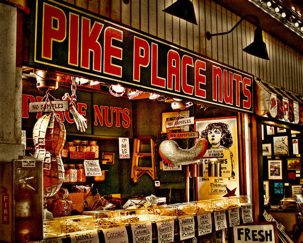 Pikes Place Photograph - Pike Place Nuts - Seattle Washington by David Patterson