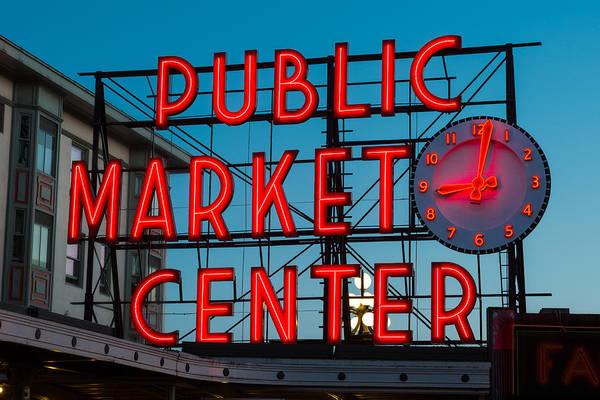 Public Places Wall Art - Photograph - Pike Place Public Market Seattle by Steve Gadomski