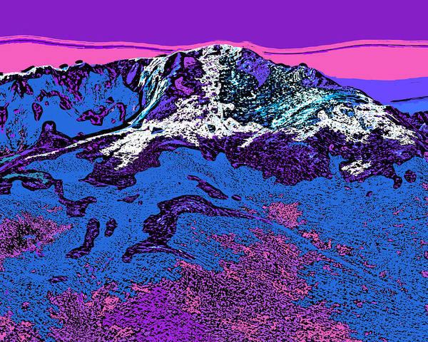 Wall Art - Digital Art - Pikes Peak - Colorado by David G Paul