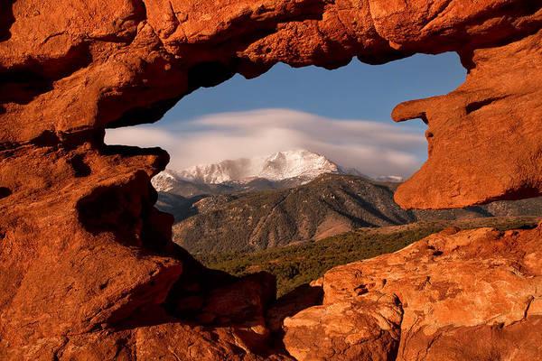 Wall Art - Photograph - Pikes Peak Framed by Ronda Kimbrow