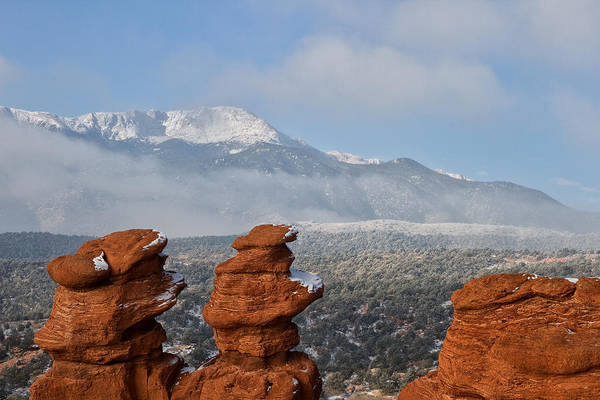 Wall Art - Photograph - Pikes Peak In The Clouds by Ronda Kimbrow