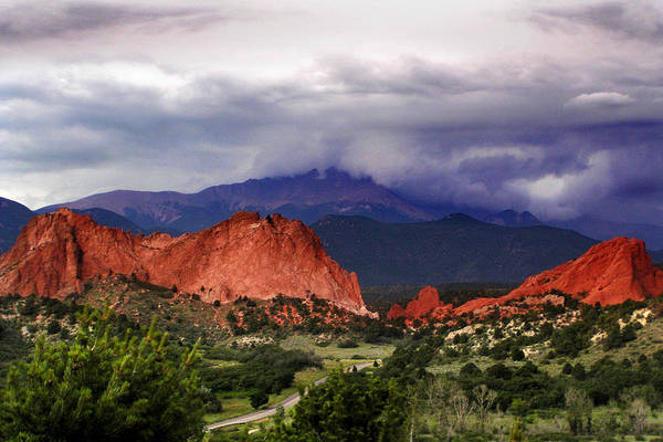 Photograph - Pikes Peak Storm by Rod Seel