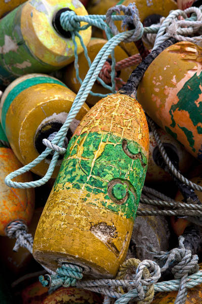 Float Wall Art - Photograph - Pile Of Colorful Buoys by Carol Leigh