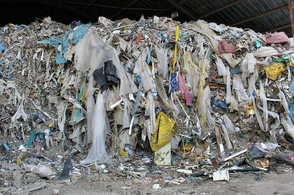Skip Wall Art - Photograph - Pile Of Waste From Skips by Robert Brook/science Photo Library