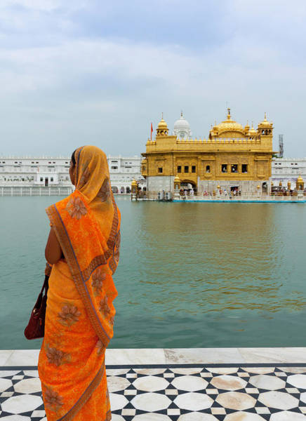 Indian Culture Photograph - Pilgrim In Golden Temple Amritsar, India by Prognone