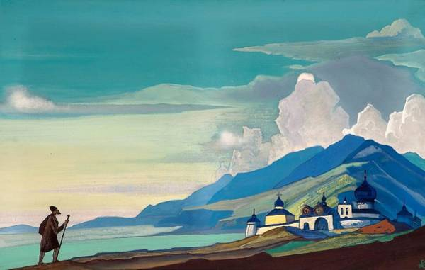Nk Roerich Painting - Pilgrim Of The Radiant City by Nicholas Roerich