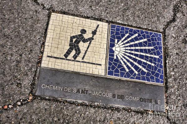 Santiago Wall Art - Photograph - Pilgrimage Route Marker by Olivier Le Queinec