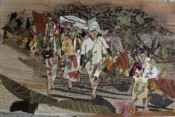 Eco Friendly Mixed Media - Pilgrims by Basant Soni