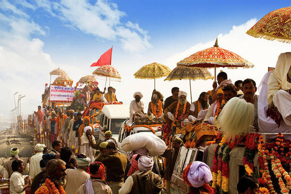 Pilgrimage Photograph - Pilgrims During The First Royal Bath by Exotica.im