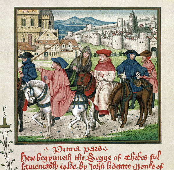 Wall Art - Painting - Pilgrims To Canterbury by Granger