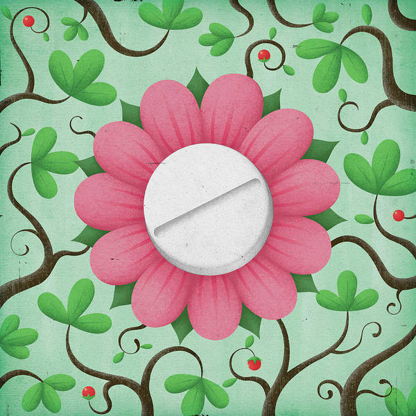 Wall Art - Photograph - Pill In The Center Of A Flower by Ikon Ikon Images