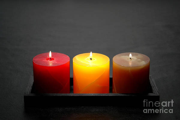 Wall Art - Photograph - Pillar Candles by Olivier Le Queinec
