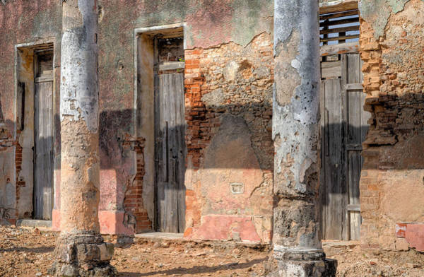 Photograph - Pillars And Doors In Cojimar Cuba by Rob Huntley
