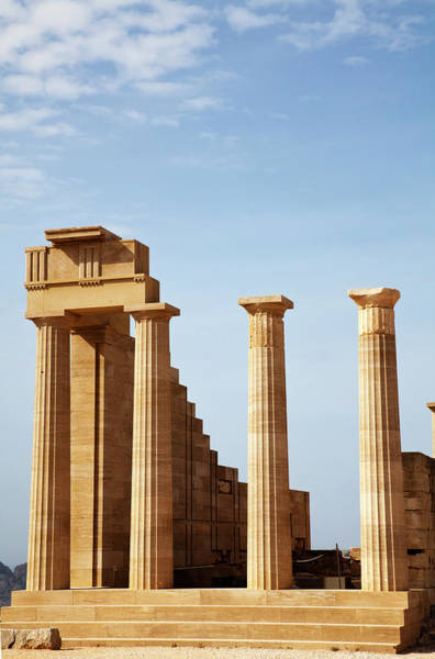 Dodecanese Photograph - Pillars At Acropolis Of Lindos by Christer Fredriksson