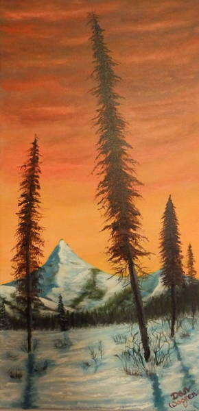 Painting - Pillars In The Sunset by Dan Wagner
