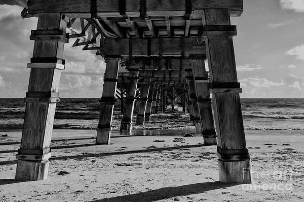 Photograph - Pillars Sand And Waves by Deborah Benoit