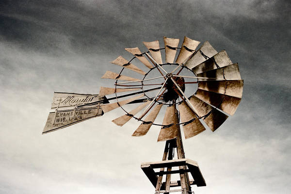 Photograph - Monitor Windmill by HW Kateley