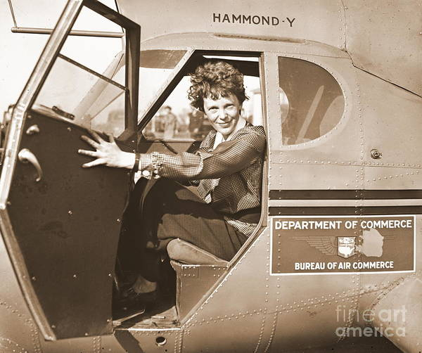 Disappearance Photograph - Pilot Amelia Earhart 1936 by Padre Art