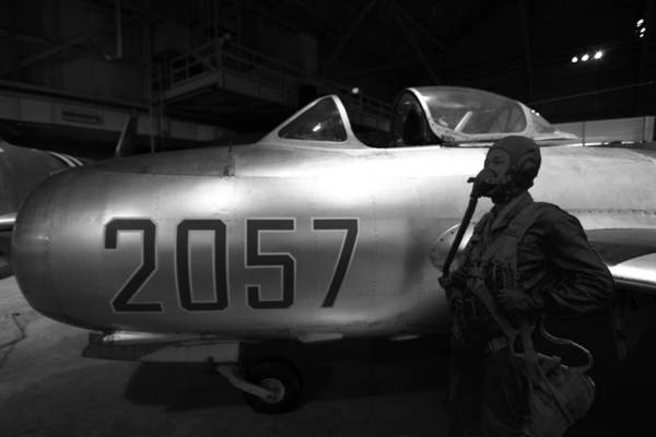 Wall Art - Photograph - Pilot And His Airplane In The Hangar by Dan Sproul