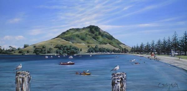 Painting - Pilot Bay Mt M 291209 by Sylvia Kula