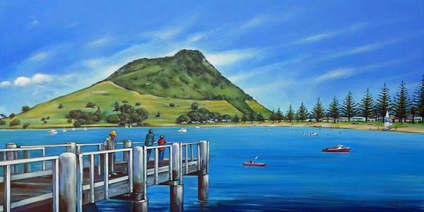 Painting - Pilot Bay Mt Maunganui 201214 by Selena Boron